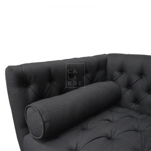dsc 2683 2 300x300 - Chesterfield 2 Seater Fabric Sofa - Black