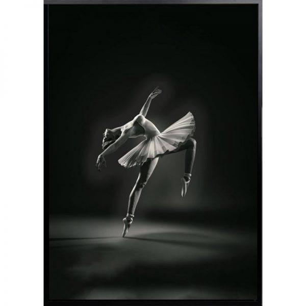 bella 600x600 - Bella Ballerina - Black & White Canvas