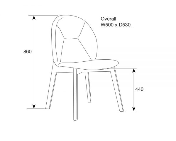 inwood3 600x480 - Inwood Dining Chair Grey