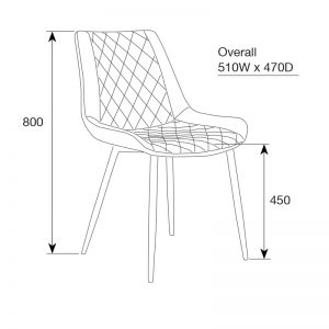 kenna3 300x300 - Kenna Dining Chair - Rust