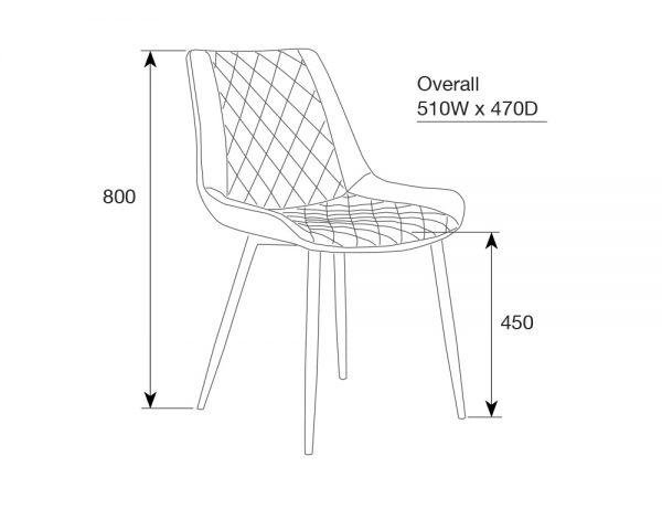 kenna3 600x480 - Kenna Dining Chair - Rust
