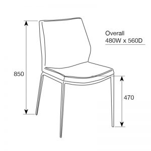 spencer3 300x300 - Spencer Dining Chair Rust