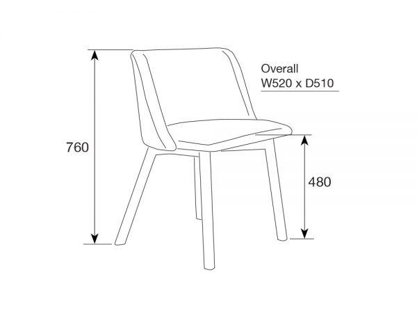 tribeca3 600x480 - Tribeca Dining Chair - Grey