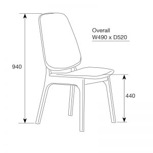 westside3 300x300 - Westside Dining Chair - Grey