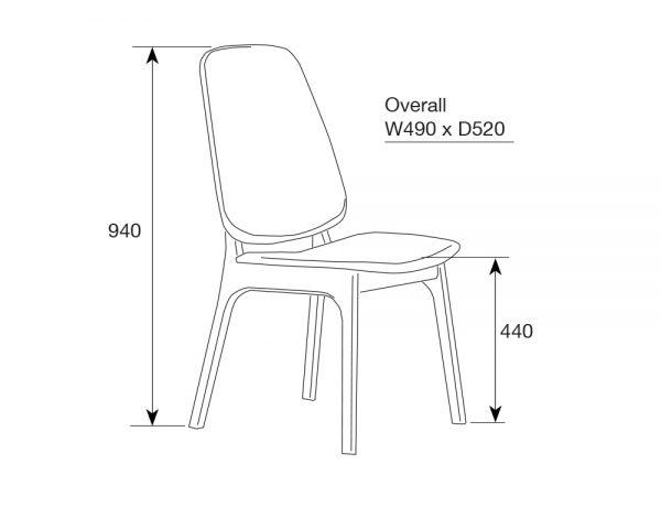 westside3 600x480 - Westside Dining Chair - Grey