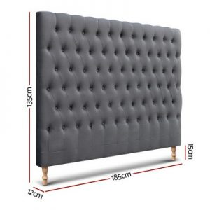 BFRAME E MARO K CHAR 01 300x300 - Marcos French Provincial Upholstered Fabric Headboard Charcoal-King Size
