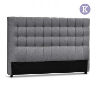 BFRAME E RAFT K LI GY 00 300x300 - Dennis Upholstered Fabric Headboard Grey-King Size