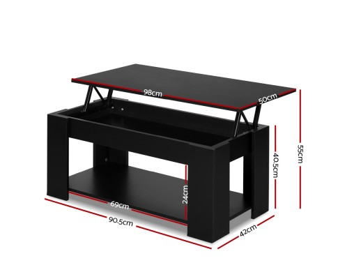 FURNI G COF LIFT BK 01 - Cindy Lift Up Top Coffee Table
