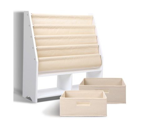 FURNI G TOY111 WH 03 - CHESTER 4 Tier Wooden Kids Bookshelf - White