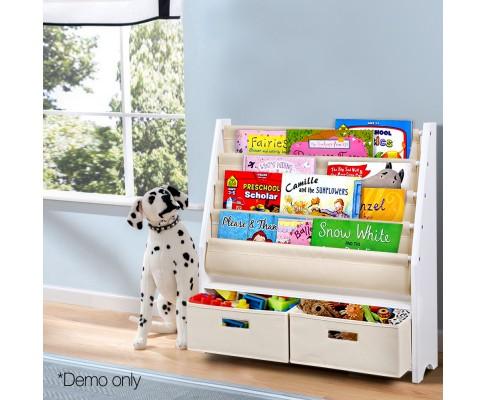 FURNI G TOY111 WH 07 - CHESTER 4 Tier Wooden Kids Bookshelf - White