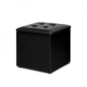 OTM STOR LEA BK 00 300x300 - Ines Storage Cube Black
