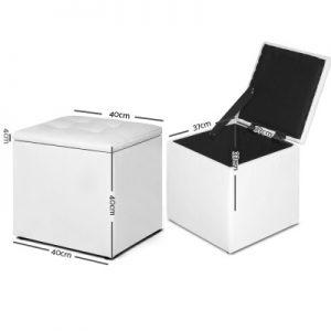 OTM STOR LEA WH 01 300x300 - Ines Storage Cube White