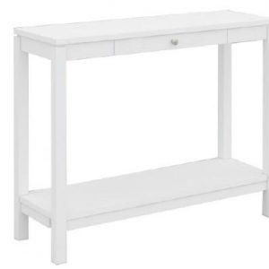 VCT 033 W 300x300 - Cubist 1 Drawer Hall Table - White