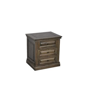 mosaic bedside 02 300x300 - Mosaic 3 Drawer Oak Bedside Table