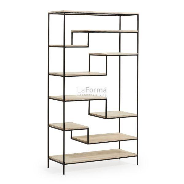 pyke5 600x600 - Pyke Large Bookshelf - Black