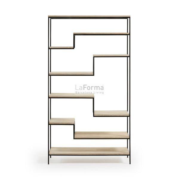 pyke6 600x600 - Pyke Large Bookshelf - Black