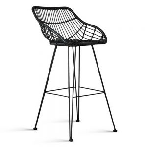 BA H 3922 BKX2 00 300x300 - Henry Rattan Bar Stool Black