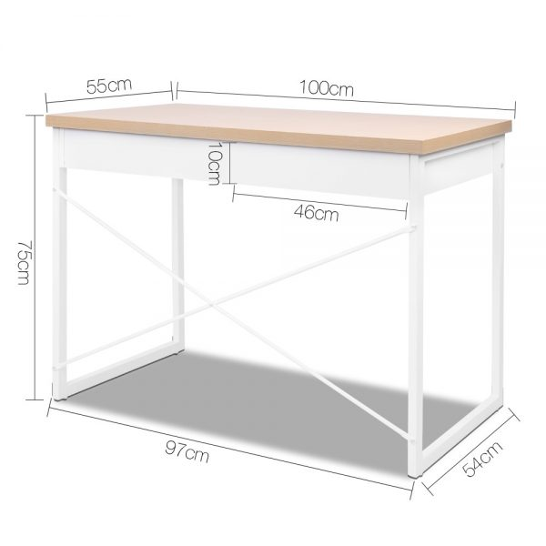 MET DESK 118 OA 01 600x600 - Zoe Desk White & Wood Top
