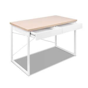 MET DESK 118 OA 02 300x300 - Zoe Desk White & Wood Top