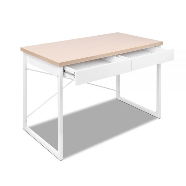 MET DESK 118 OA 02 600x600 - Zoe Desk White & Wood Top
