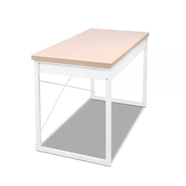 MET DESK 118 OA 03 600x600 - Zoe Desk White & Wood Top