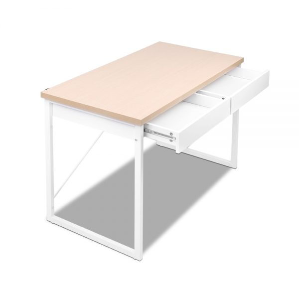MET DESK 118 OA 04 600x600 - Zoe Desk White & Wood Top