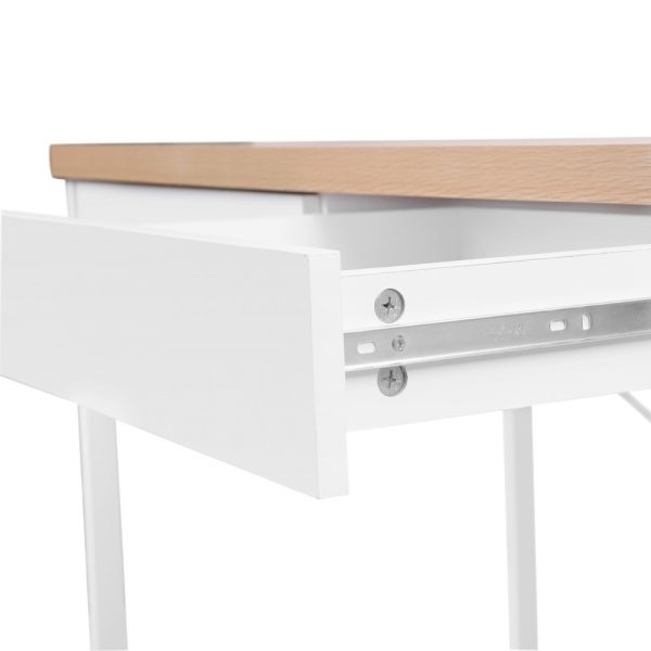 MET DESK 118 OA 05 600x600 - Zoe Desk White & Wood Top