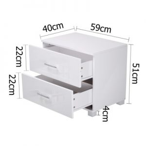 furni gloss side wh 01 1 300x300 - Jo Hi Gloss White Bedside