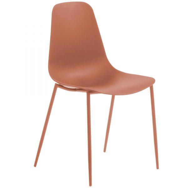 MetalDiningChair 6 600x600 - Wassu Dining Chair - Dark Orange