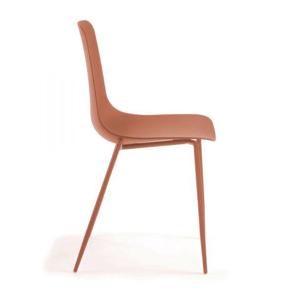 MetalDiningChair 7 600x600 - Wassu Dining Chair - Dark Orange
