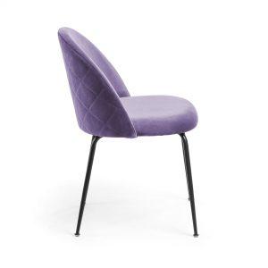 Mystere 2 300x300 - Mystere Dining Chair - Violet Velvet/Black