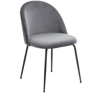 Mystere 5 300x300 - Mystere Dining Chair - Grey Velvet/Black