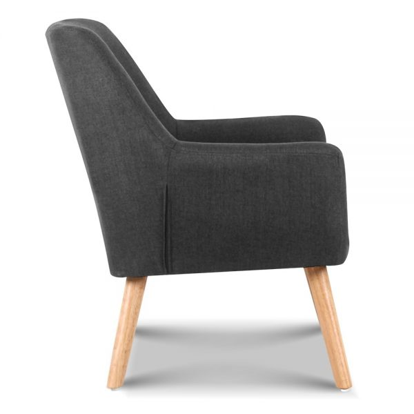 upho b arm04 cha 03 600x600 - Cleon Armchair - Charcoal