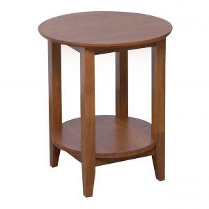 K40.16 Quadrat Round Lamp Table Teak 300x300 - Quadrat Round Side Table - Teak