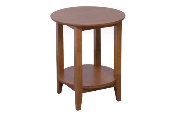 K40.16 Quadrat Round Lamp Table Teak 600x400 - Quadrat Round Side Table - Teak