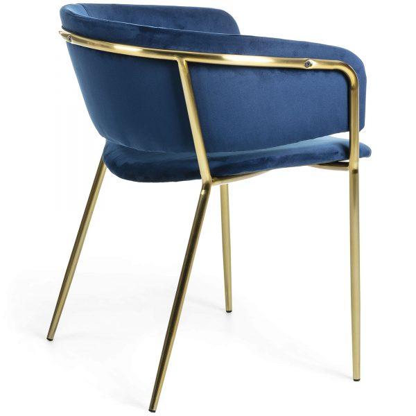 Konnie 3 600x600 - Konnie Dining Chair - Blue Velvet/Gold