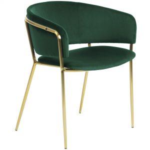 Konnie 5 300x300 - Konnie Dining Chair - Emerald Velvet/Gold