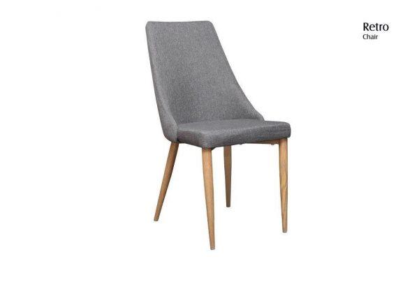 Retro Chair 600x424 - Retro Dining Chair - Grey