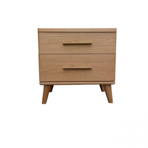 Scala Natural 2 300x300 - Scala 2 Drawer Bedside Table - Natural