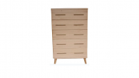 Scala Natural - Scala 5 Drawer Tallboy - Natural