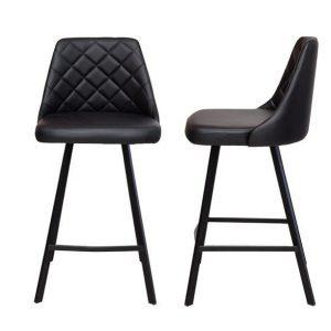 Kenna bar stool black metal legs in tan 2fbd1adf 3daa 4168 8379 50fbb09cbdad 300x300 - Kenna Bar Stool - Black