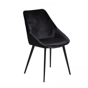 ashley3 300x300 - Ashley Dining Chair - Black Velvet on Black Metal Frame