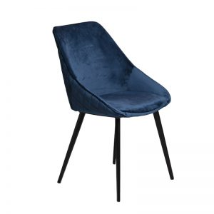 ashley4 300x300 - Ashley Dining Chair - Blue Velvet on Black Metal Frame