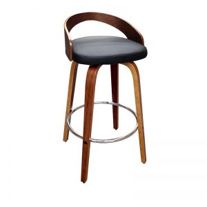 cheetah1 300x300 - Cheetah Barstool - Black on Walnut