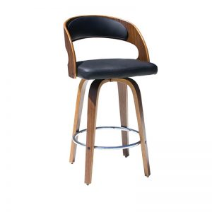 leopard1 300x300 - Leopard Barstool - Black on Walnut