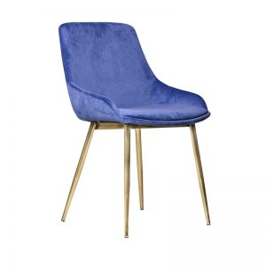 tilley3 300x300 - Tilley Dining Chair -Light Blue Velvet on Gold Frame