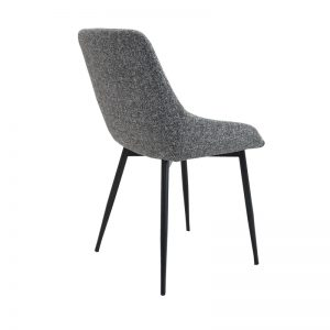 tilley4 300x300 - Tilley Dining Chair-Grey Fabric on Black Frame