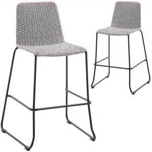 74cm Celia Woven Rope Outdoor Barstools 1 300x300 - Meggie Barstool - Light Grey