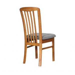 DC0014 300x300 - REIM Dining Chair - Teak Frame Graphite Fabric Seat