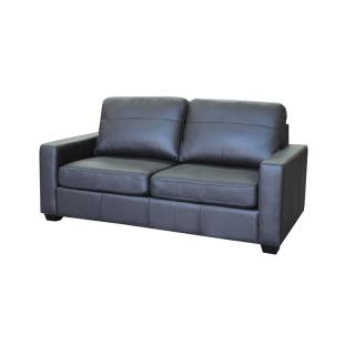 839171ca1c9a376bcbb665b24e6166b982a54133 - Alessia Leather Sofa bed - Black
